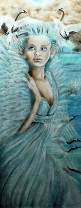 Ali, 2006, olio su tela, 40x100