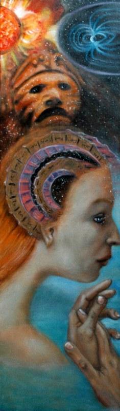 La memoria del tempo, 2006, olio su tela, 30x100
