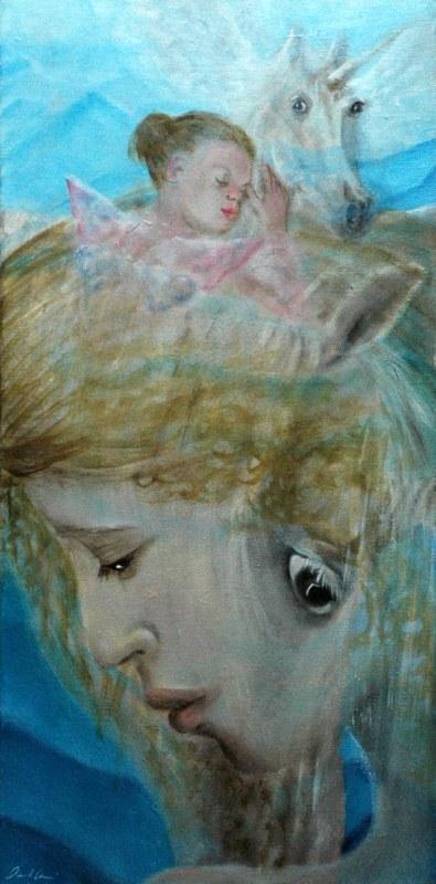 Leggende, 2006, olio su tela, 30x60
