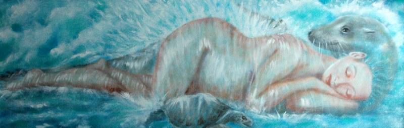 Pelle di foca, 2006, olio su tela, 120x40