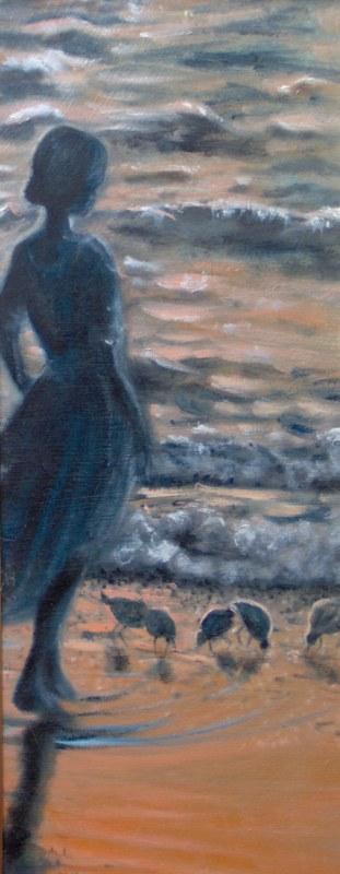 aurora, 2006, olio su tela, 30x80