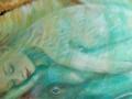 La donna balena, 2006, olio su tela, 120x40