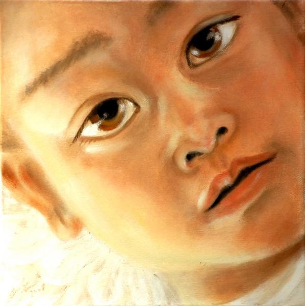 Angelo - 2008, olio su tela cm 30x30