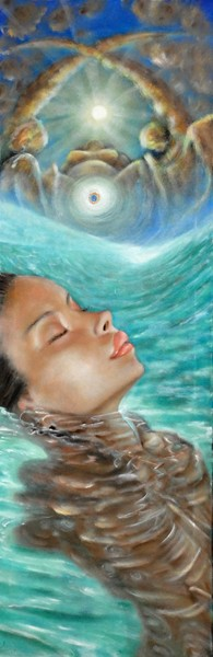 Divinis arcae - 2008, olio su tela, 40x120