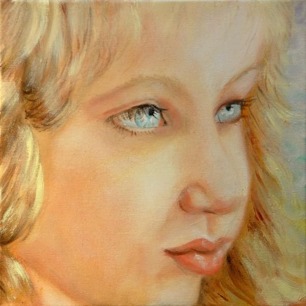 Piccolo angelo - 2008, olio su tela, 30x30
