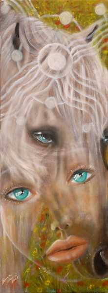 amore - 2008, olio su tela, 30x80