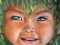 Elfo della natura- 2008, olio su tela, 30x30