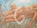 Viaggio nella coscienza - 2008, olio su tela, 120x60