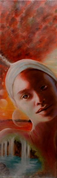 Alchimie , olio su tela, 2009, 30x90