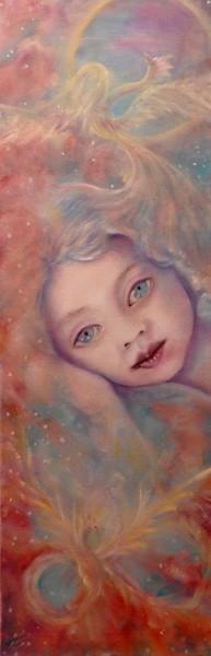 La fenice, olio su tela, 2009, 30x90