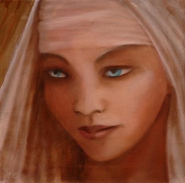 Madre, olio su tela, 2009, 40x40