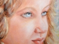 Angelo, olio su tela, 2009, 30x30