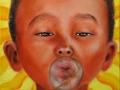 Bolla di sapone, olio su tela, 2009 30x30