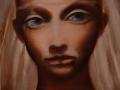 La dama di luce, olio su tela, 2009, 40x40