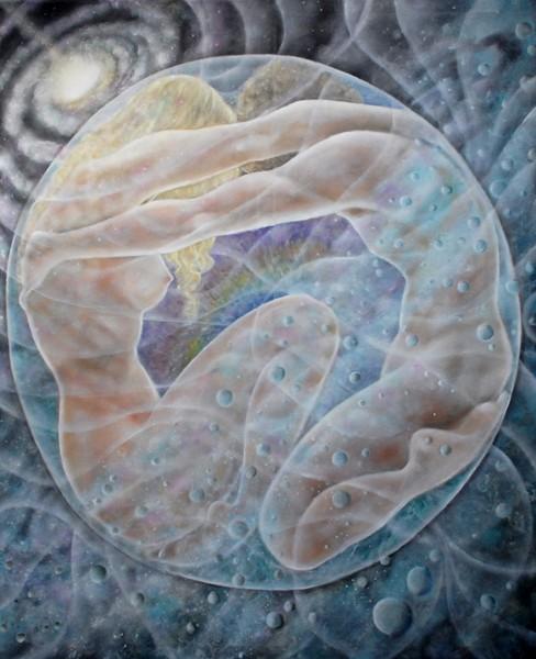 Un anima unica-olio su tela-100x120-2010