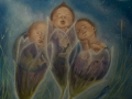 BAMBINI TERRA FIORE - 2011 - olio su tela - 70x70