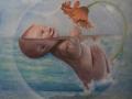 LUCE, olio su tela, 2011, 70x70