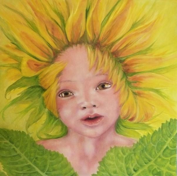 BORN IN THE SUNe-olio su tela-60x60-2012
