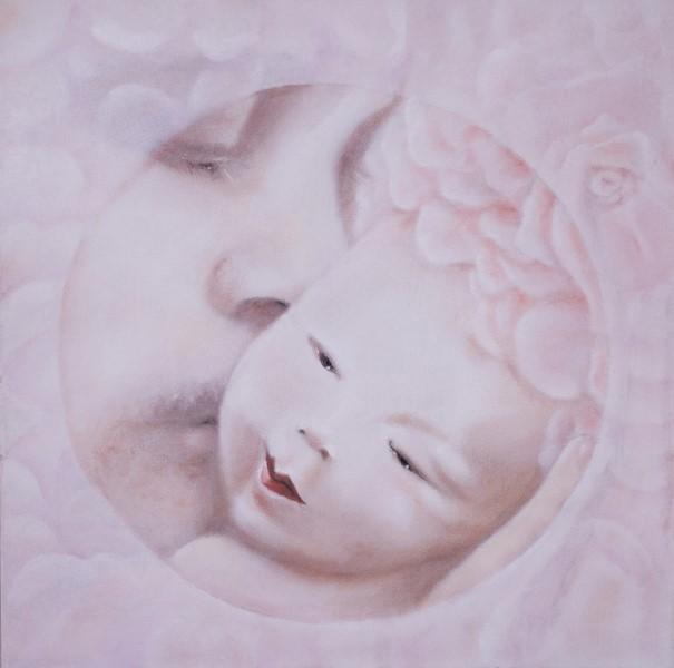 Padre, olio su tela, 50x50, 2011