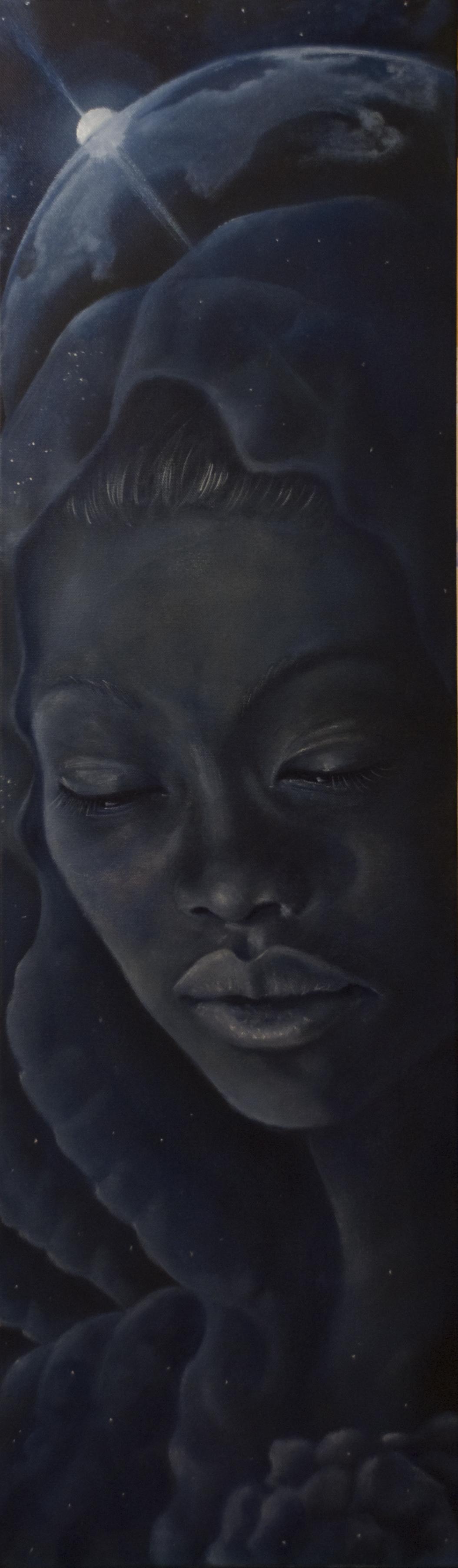 MADRE-2011-olio su tela-30×100