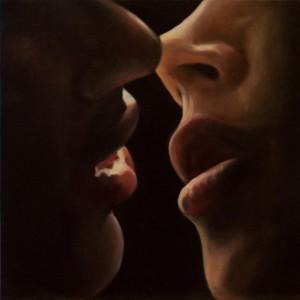 Il bacio-olio su tela-30x30