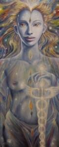 Guerriera della Luce-olio su tela-40x100